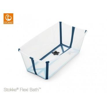Stokke FLEXI BATH Vaschetta Bagno Pieghevole Trasparente-Blu