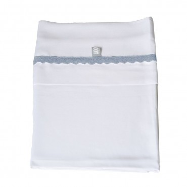 Bamboom BEDSHEET BABY Completo Lenzuola Letto CROCHET Blue
