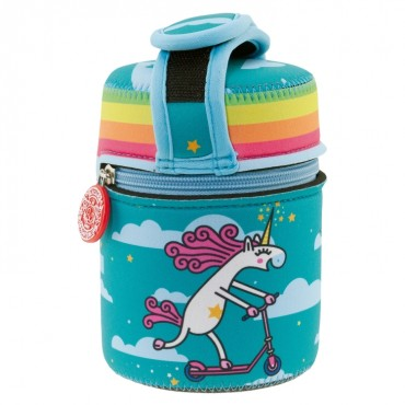 Laken THERMOS Food 0.5L + Neoprene UNICORNO Multicolor