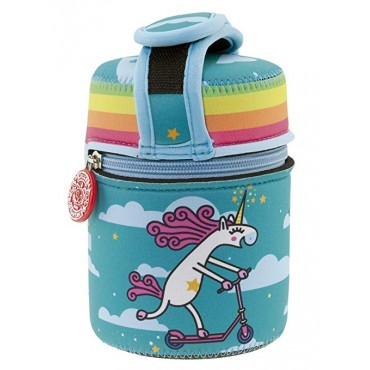 Laken THERMOS Food 1L + Neoprene Celeste UNICORNING