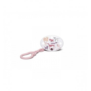 Suavinex CLIP Portasucchietto universale Ovale Cani rosa
