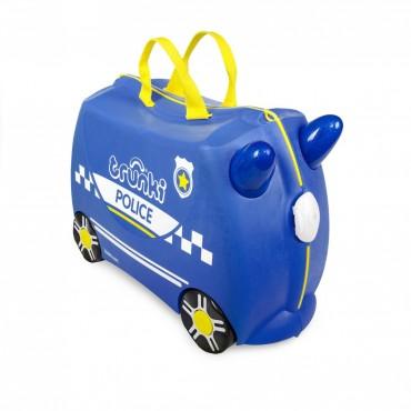 Trunki VALIGIA Cavalcabile Azzurro Percy Police Car