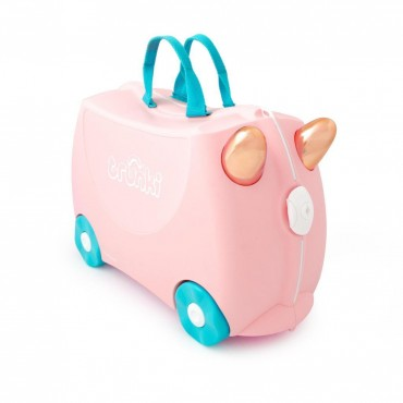 Trunki VALIGIA Cavalcabile Flossy Flamingo Rose