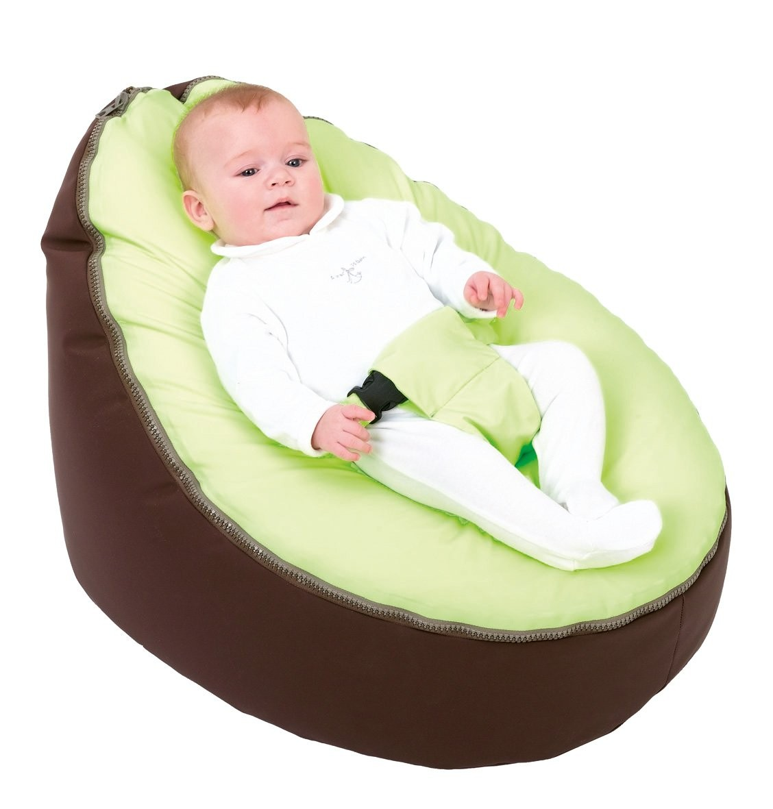 Doomoo Zitzak Lime.Doomoo Seat Poltrona Super Comfort Chocolat Lime La Culla Dei