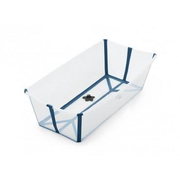 Stokke FLEXI BATH Vaschetta Bagno Pieghevole X-LARGE Trasparente-Blu