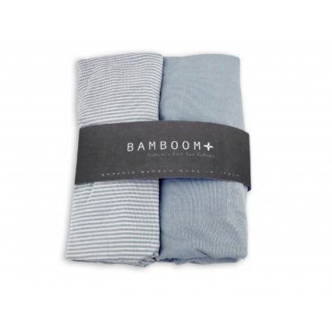 Bamboom COPRIMATERASSO Culla 80 x 40 Stripe white/Grey 104-161-062