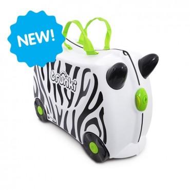 Trunki VALIGIA Cavalcabile Zimba Zebra Bianco