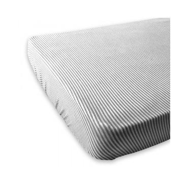 Bamboom COPRIMATERASSO Letto 120 x 60 Stripe White-Grey