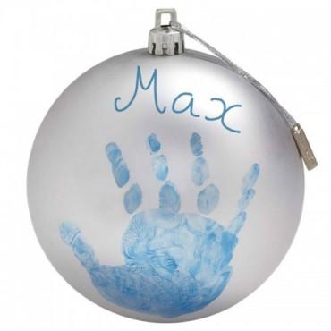 Baby Art PALLINA di NATALE Personalizzabile Silver 34120155