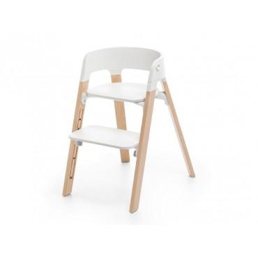 Stokke Sedia STEPS White Seat / Natural Legs 349701