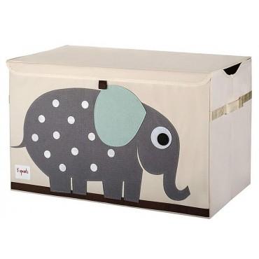 3sprouts Raccoglitore Giochi BAULE PER GIOCATTOLI Elefante