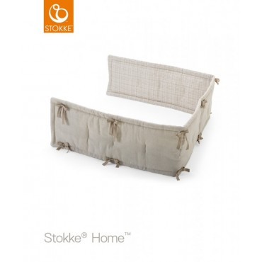 Stokke Home Half Bumper NATURAL-BEIGE CHECKS 408402