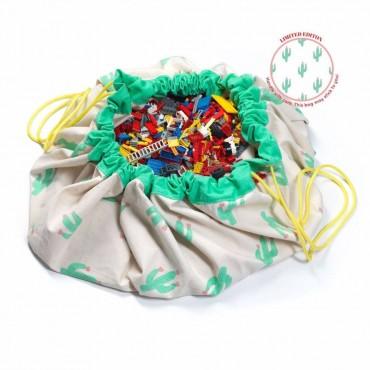 Play & Go TAPPETO E SACCO PORTAGIOCHI Cactus PG027