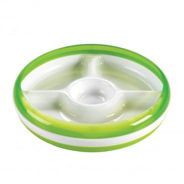 OXO TOT Piatto con Divisori Verde