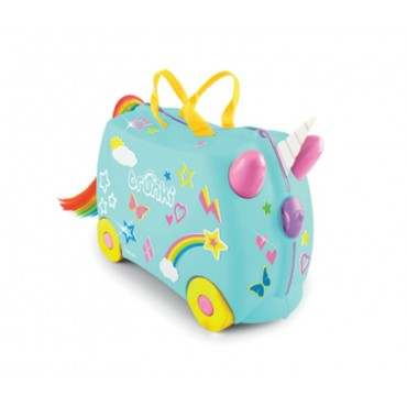 Trunki VALIGIA Cavalcabile Una Unicorn Turchese