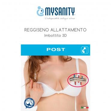 MySanity REGGISENO ALLATTAMENTO Imbottito 3D Bianco Coppa C 82214