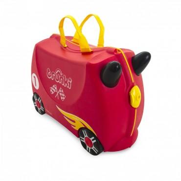 Trunki VALIGIA Cavalcabile Rocco RACE CAR Rosso