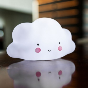 Little Lovely Company LUCE ANTIBUIO Mini Cloud White